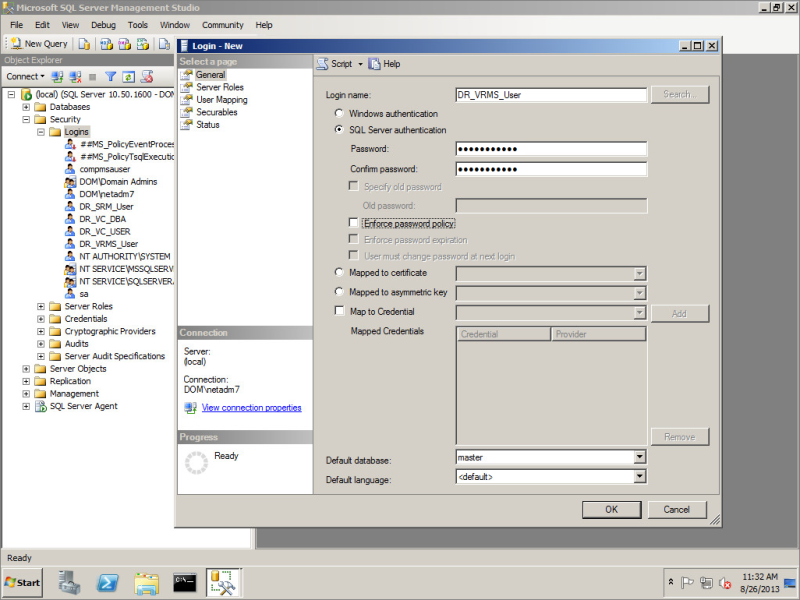 Configure vSphere Replication to Use an External Database