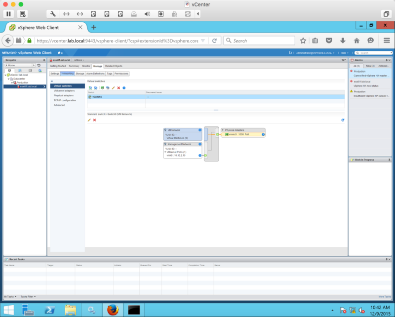 Create a Nested ESXi 6 0 lab using VMware Fusion 8 | Let's