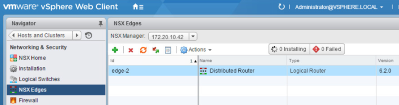 Deploying an NSX Edge Services Gateway and Configuring