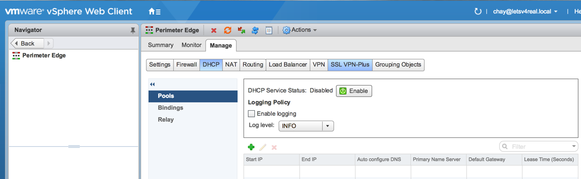 Configure DHCP Services in VMware NSX   Let's v4Real