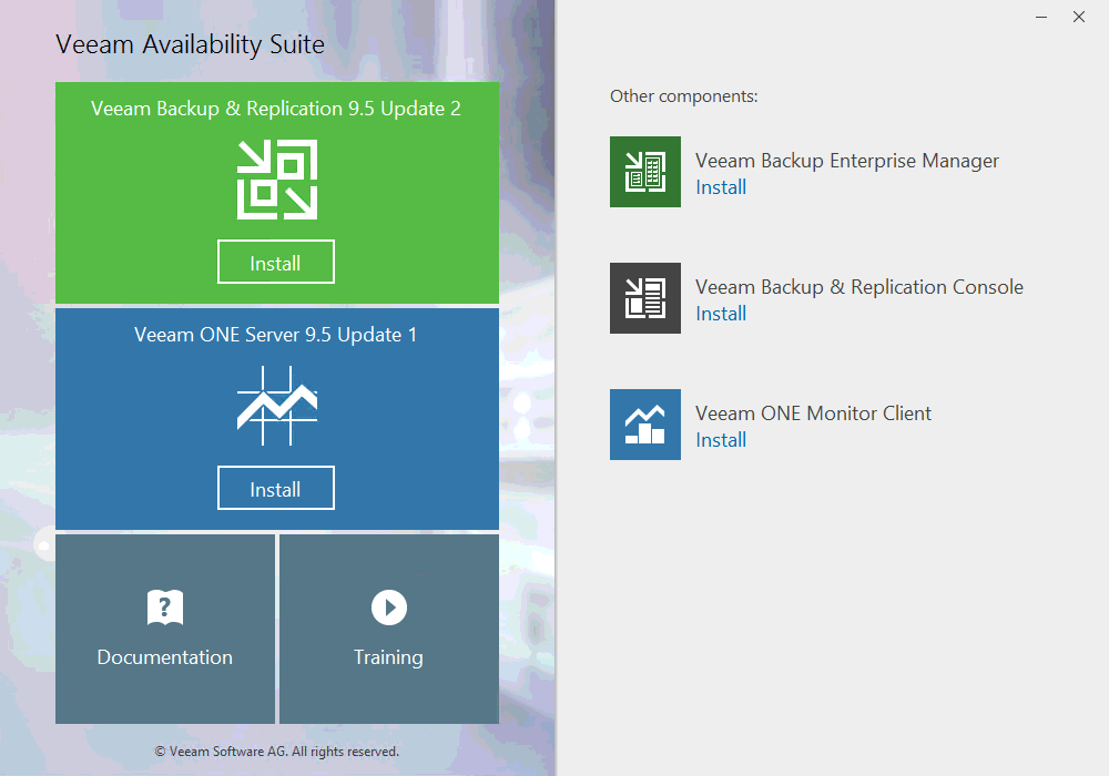 Veeam: Install Veeam Availability Suite 9 5 | Let's v4Real
